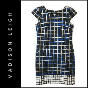Madison Leigh Stretch Plaid & Check Sheath Dress